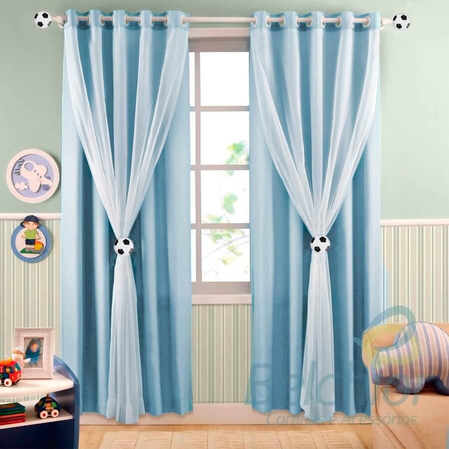 Saiba Como Fazer A Escolha Certa Da Cortina Infantil Ideal Para O  -> Cortinas Para Sala Azul