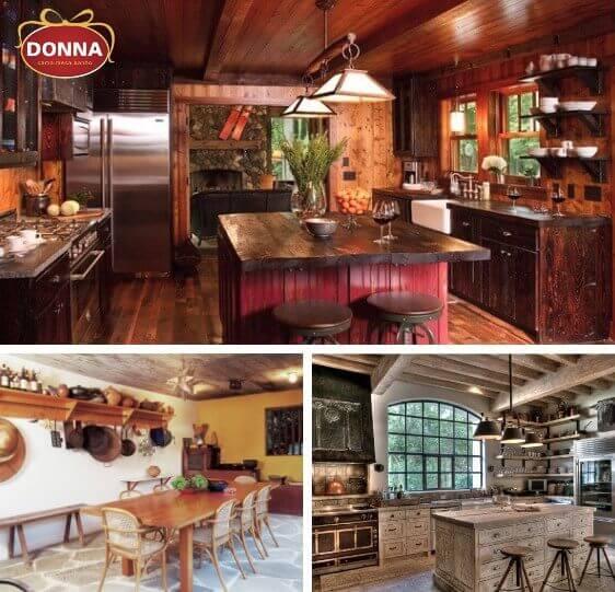 ideias para cozinha rustica