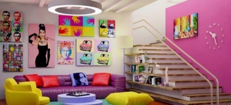 decoracao estilo pop art